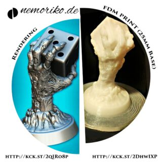 """3d print of the """" Zombie Dice Hand """"  http://kck.st/2qlRo8p  #tabletop #tabletopgame #tabletopgames #tabletopgaming #boardgame #boardgames #wargames #wargaming #nemoriko.de #nemoriko3d #nemoriko3design  #nemoriko3ddesign #dennisgraf"""
