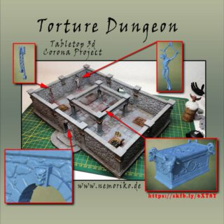 3D Dungeon Corona Project  #maerkische_schlachtfelder  #tabletop  #tabletopgames  #Tabletop  #dungeonsanddragons  #dungeon  #3ddesign  #diorama  #modellbau  #3d  #3ddruck  #3dgedruckt #3dprint  #3dprinted #elegoomars #dennisgraf  #nemoriko3ddesign