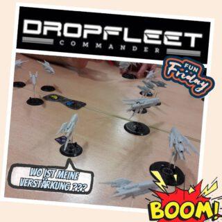 Dropfleet Commander Testspiel 👍  #tabletop #maerkische_schlachtfelder #dennisgraf #dropfleetcommander #scifi